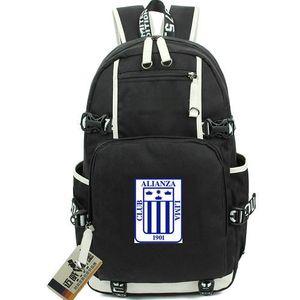 Los aliancistas backpack alianza Lima day pack football club school bag soccer packsack laptop حقيبة الظهر الرياضة المدرسية خارج الباب daypack