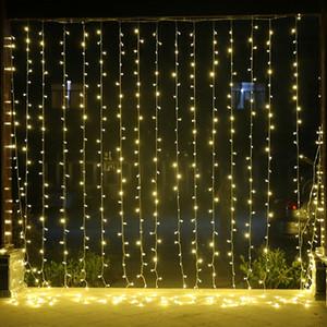 6 متر * 4 متر led في الجنية سلسلة ضوء عيد الميلاد حفل زفاف عطلة حديقة 768 أضواء led الستار الديكور الولايات au au 10 جزء / الوحدة