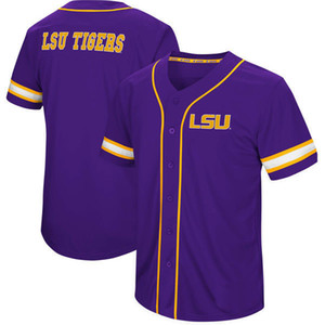 Homens LSU Tgs Coliseu Jogar Bola de Beisebol Jersey Stitch Costurado Tudo Costurado de Alta Qualidade Frete Grátis Jerseys