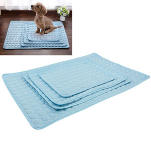 Pet Bed Cooler Mat Pad Cool Gel Non Toxic Polyester Soft Cat Dog Summer Cooling Bed House Mat