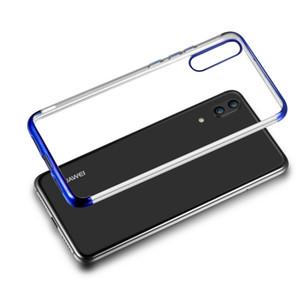 Per Huawei P20 Plus P20 Lite Mate10 Pro Mate 10 Mate 9 Lite Trasparente TPU placcatura trasparente Placcatura elettrolitica Custodie per cellulari