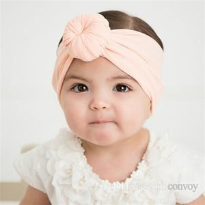Детские повязки на голову пончик узел ленты Индия Пончик повязка на голову младенческой дети Девушки ленты для волос Детские аксессуары для волос Детские ленты для волос KHA396