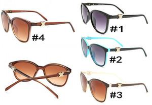 Sonnenbrille Cat Eye Club Markendesigner Sonnenbrille Gläser Gafas de sol für Männer Frauen Spiegelglas Linsen mit Fall Billig