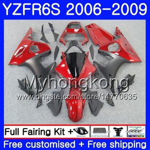 Pérola vermelho brilhante Corpo Para YAMAHA YZF R6 S R 6 S YZF600 YZFR6S 06 07 08 09 231HM.7 YZF-600 YZF R6S YZF-R6S 2006 2007 2008 2009 Carcaça Kit