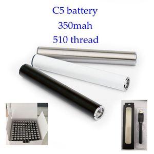 Vape batterie 350 mAh vape patrone batterie vorheizen 510 gewinde e cig batterie Blister verpackung schaum paket 100% fit für TH205 vape tank