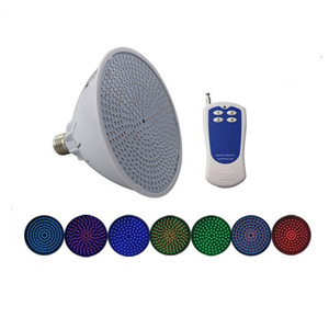 Ampoule E27 12V 120V 220V de piscine de Par56 RVB LED pour l'appareil photo de Pentair Hayward Appareil d'éclairage de 18W 24W 35W IP68 avec à distance