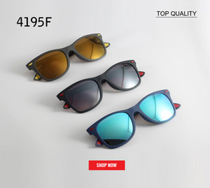 RLEI DI Brand Design Hot 4195 flash Gafas de sol Gentle Men Women 2018 Tendencias Vintage Square Rays Neff Gafas de sol Tonos Oculos Fararii gafas