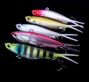 New Artificial simulation Fish lead bass Crankbaits 9.5cm 20g Freshwater Fishing VIB Soft Plastic Laser lure with Lead Head hooks
