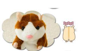 2018 Mignon 15cm Anime Cartoon Talking Hamster Jouets En Peluche Kawaii Parler Parler Record Sonore Hamster Parler Jouets pour Enfants
