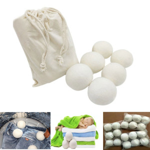 7cm Wool Laundry Balls For Wrinkles Reusable Natural Fabric Softener Anti Static Large Felted Organic Clothes Dryer Ball 6pcs set HH7-969