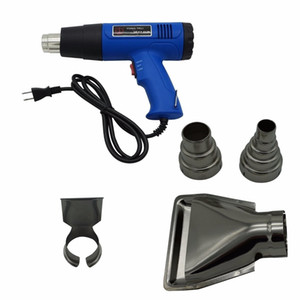 Heat Gun Hot Air Gun Dual Temperature 4 Nozzles Power Tool 1500 W LCD Electronic Digital Heater Gun Shrink Wrapping Thermal Power Tool US