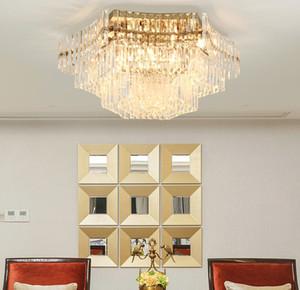 Plafonnier en cristal salon chambre circulaire LED simple atmosphère nouvelle lampe de cristal moderne de luxe léger LLFA