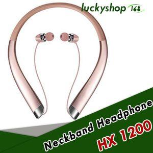 Top Qualidade HX1200 Bluetooth HX Sem Fio Fones De Ouvido HX 1200 Com Pacote de Varejo Duro CSR 4.1 Neckband Esportes Fones De Ouvido Fones De Ouvido com Microfone
