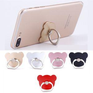 360 degrés Bear Head Annulaire Téléphone mobile Smartphone Support à Mont Support pour IOS Android Tous Smart Phone