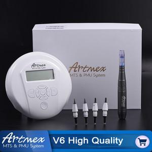 Artmex V6 Professional máquina de maquiagem semi permanente kits de Tatuagem Sistema MTS PMU Derma Pen Sobrancelha lábio caneta de tatuagem