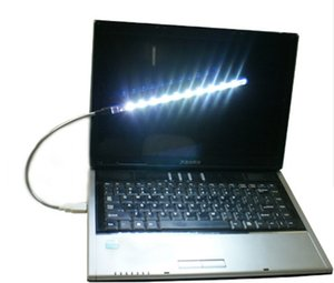 10LED Plastik USB super helle helle flexible Lampe für Notizbuch Laptop PC 10 LED helles freies Verschiffen LLFA