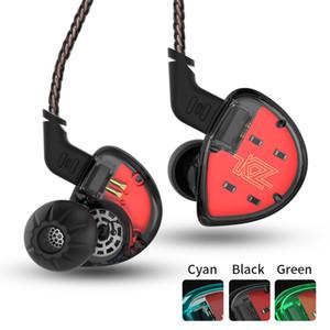 KZ ES4 Dans Ear Monitors Induit et dynamique casque hybride Ear écouteurs HiFi Basse Noise Cancelling Headphones Ear Hooks