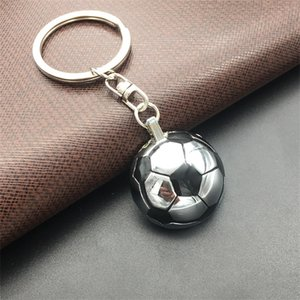 Футбол металлический брелок творческий футбол форма ключей пряжки 2018 Россия Кубок мира брелок новый прибыть 2 5 мм C