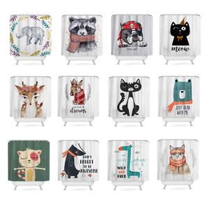 Ducha Eco Friendly animal de la historieta personalizada cortinas tela de poliéster impermeable baño cortina 180cm cortina de ducha cortina de baño