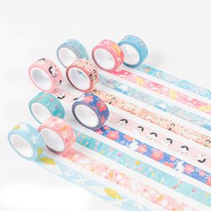 2016 7 mt * 15mm DIY Vintage Dekorative Washi Klebeband Japanische Kirsche Blumen Kreppband Für Dekoration Molkerei Scrapbooking
