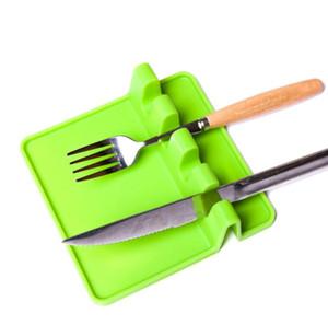 3 Цвет кухонная утварь отдых ложка горшок кастрюля крышка горшок лопата держатель пищевой силиконовые инструменты полка серый и зеленый Бесплатная доставка SN1582