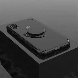 Para iPhone X Caso Com Kickstand Voltar Movable Car Magnetic Mount Dual Layer Anti Choque híbrido Cell Phone Case-Multi função Amor Caso