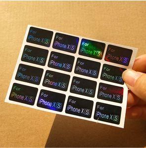 Usine En gros Laser étiquette Autocollant modèle de téléphone portable Autocollant de papier enduit auto-adhésif Étiquette personnalisée logo marque