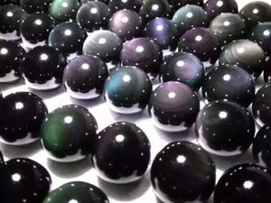 144 unids / lote 8 mm perlas Obsidiana Redonda perlas sueltas piedras preciosas semipreciosas naturales de DIY joyería