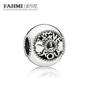 FAHMI 100% 925 Sterling Silver 1: 1 Original 796601 Authentic Temperament Fashion Glamour Retro Bead Wedding Jewelry donna