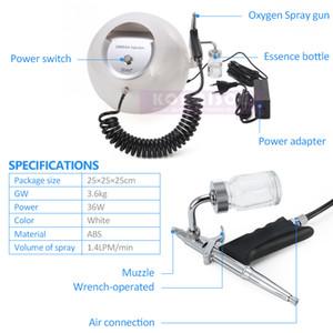 Tragbares Sauerstoff-Gesichtsbehandlung Maschine Hautverjüngung Sauerstoff Jet Peeling Maschine für Gesichtsreinigung DHL-freies Verschiffen für Salon Verwenden