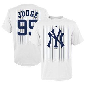 béisbol NY camiseta Aaron juez Gary Sanchez Didi Gregorius Giancarlo Stanton CUSTOM cualquier nombre y número tee