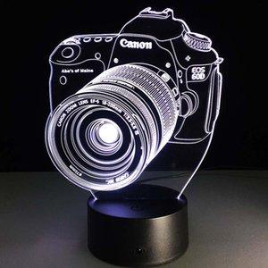 زخرفة الكاميرا نموذج الحرف مصباح 7 اللون تغيير الوهم البصرية بقيادة شمعة مهرجان فانوس الوهج عيد الميلاد الطرف تفضل