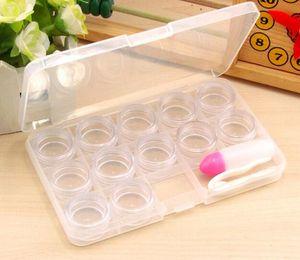 12 Grid Transparent Contact Lens Display Box Case Eyeglasses Case Eyewear Cases