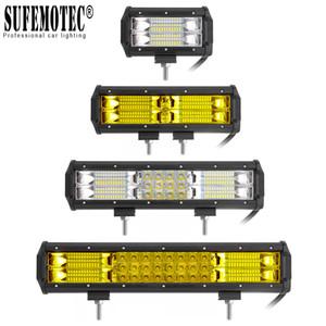 """5"""" 9"""" 12 LED barre pouces 12V 24V Flood spot Combo faisceau de la lampe de travail pour VTT 4X4 Offroad camion bateau ramassage Moto-Feux De Brouillard"""
