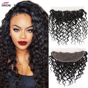 Brazilian Water wave Human Hair Wefts Wholesale Cheap 3Bundles with 13x4 Lace Frontal Ear to Ear Human Hair Bundles with Closure