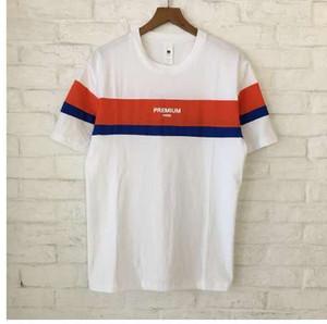 Sommer Xieruis Premium Printed Striped Frauen Männer T-shirts tees Hiphop Casual Männer Baumwolle t-shirt 3 Farben