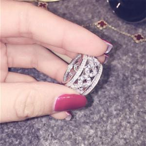 Marka Kadın Promise ring Elmas Cz 925 ayar gümüş Sonsuza aşk Nişan düğün band yüzükler kadınlar için Parmak Takı