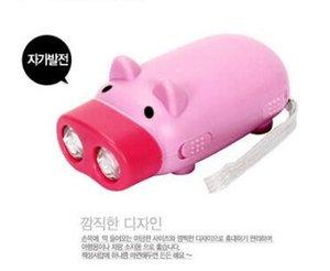 Little Pig forma de tubo Mini keychain levou lanterna tocha Outdoor Camping Caminhadas portátil Luzes Mão pressionando POWER Com Retail Box