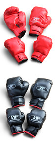 Adult MMA Sparring Kick Fight Gloves Training Fists Thai Boxing PU Leather Muay Sandbag Fitness 2 Colors