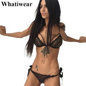 2018 Whatiwear 섹시 란제리 섹시 란제리 에로틱 섹시 란제리 섹시한 섹시한 인형 세트 섹시한 열기 브래지어 sous vetement femme T1942 Y18101502