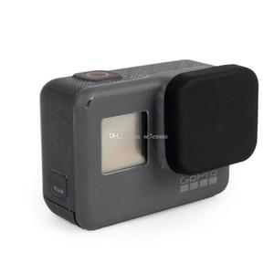 Capuchon d'objectif de protection en caoutchouc de silicone souple Capuchon anti-rayures anti-poussière pour caméra d'action sport 5 noir