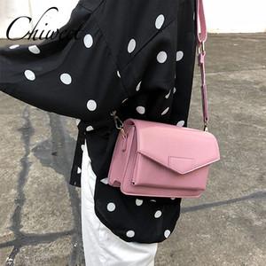 Ladies Pink & Purple Messenger Bag Vintage Minimalist Women Bag Designer Leather Luxury Handbags Wide Strap Shoulder Bags