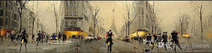 handmade painting impression oil painting paris hanging on wall modern wood wall art home decoration wall hanging unique gift