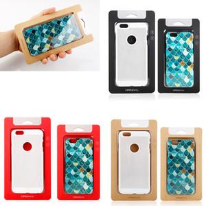 Plain Universal Kraft Paper Retail package Box box box box box boxs for phone Case iphone XS MAX XS 7 8 6S plus Galaxy S7 Case