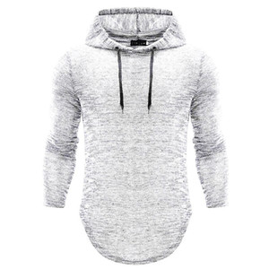 Men 20-40 years old wear summer autumn knitted men's hooded leisure long sleeved t-shirt