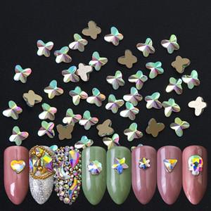 Super Glitter Crystal AB Posteriore piatta Non HotFix Nail Art Strass 3D Nail Art Decorazioni indumento Mix strass
