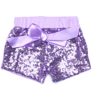 Summer Baby Girls Sequins Shorts Pants Casual Pants Fashion Infant Glitter Bling Dance Boutique Bow Princess Shorts Kids Clothes 12 color