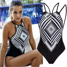 New Women Bathing Suit Hot Lady's One Piece Swimsuit Swimwear Bathing Monokini Push Up Padded Bikini