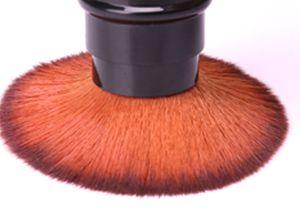 1Pc Retractable Stylish Portable Blush Brush Nylon Bristle Brush Foundation Brush Cosmetic Tool