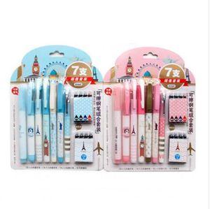 Caneta Tinteiro 8pcs Ink 7pcs Pens löschbare / Füllfederhalter Fein Mittel Ef + F M Nib Schreiben Fluency 2Standard Kostenloser Versand